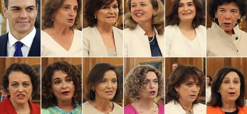A nők vannak többségben az új spanyol kormányban