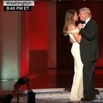 Trump táncolva három bált is megnyitott