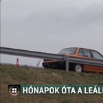 Egy hónapja áll egy autó az M6-os leállósávjában