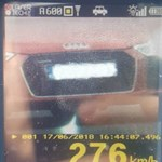 Megdőlt a román sebességrekord, 276 km/h-nál fotózták le a rendőrök az Audi R8-ast