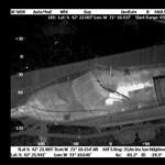 Hőkamera filmezte le a hajóban fekvő robbantót – videó