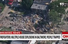 Házakat tett a földdel egyenlővé egy nagy robbanás Baltimore-ban