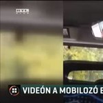 Vezetés közben mobilozó buszsofőrt videóztak le