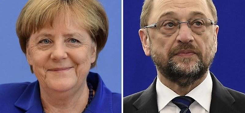 Orbánozva csapott össze Merkel és Schulz