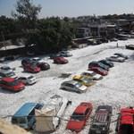 Fotók: Másfél méternyi jég esett Mexikóban