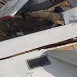 Fotók jöttek a Tökölön lezuhant vitorlázórepülőről