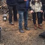Pócs János egyik fotóján egy disznó a soros
