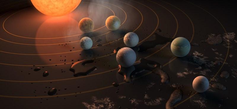 Itt a NASA nagy bejelentése: 7 Föld-szerű bolygót találtak egy közeli naprendszerben