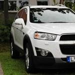 Chevrolet Captiva teszt: legalább erős