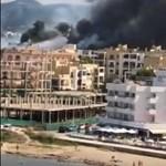 Tűz ütött ki Ibizán, egy hotel kaphatott lángra